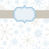 Snowflake Banner Background. Seamless snowflake background with banner for your type. The snowflakes are complete under the banner Stock Photography