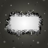 Snowflake banner illustration Stock Photos