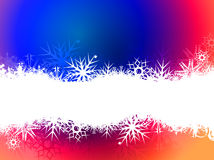 Snowflake banners Stock Images