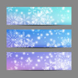 Snowflake banners Royalty Free Stock Image