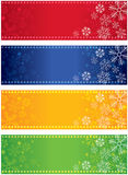 Snowflake Banners. An set of a light coloured snowflake banners, good for Christmas and festive occasions Stock Photos