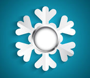 Snowflake with bauble Stock Images