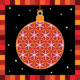 Snowflake bauble greeting card Royalty Free Stock Images