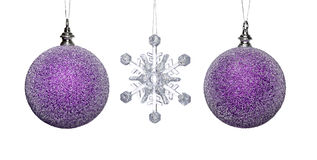 Snowflake Baubles Stock Photography