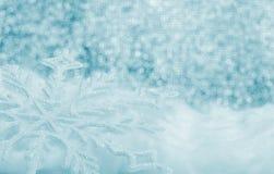 Snowflake big closeup Royalty Free Stock Image