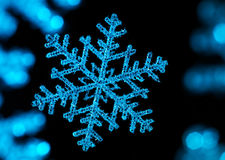Snowflake. With a black background Stock Photography