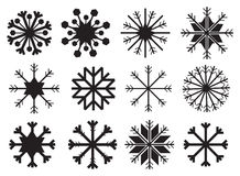 Snowflake in Black and White Vector Design Royalty Free Stock Photo
