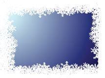 Snowflake blue background. A blue background with a snow flake border Royalty Free Stock Photos