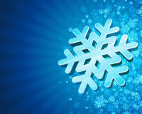 Snowflake with blue background Royalty Free Stock Photography