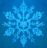 Snowflake on blue background Stock Photo