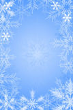 Snowflake blue background Stock Photography