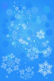 Snowflake blue background Royalty Free Stock Photo