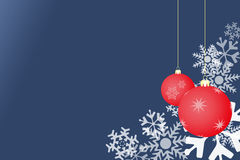 Snowflake blue background with balls Royalty Free Stock Photos