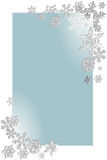 Snowflake  on blue background 4 Stock Photography