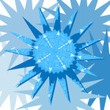 Snowflake on blue background2 Stock Photos