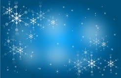 Snowflake blue background Royalty Free Stock Photos