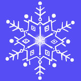 Snowflake on a blue background Stock Photo