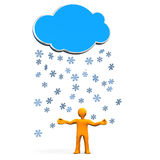 Snowflake Blue Cloud Stock Images