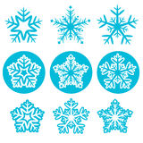 Snowflake. Blue color icons set on white background christmas vector vector illustration