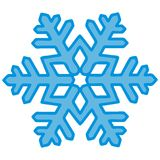 Snowflake, blue contour Royalty Free Stock Images