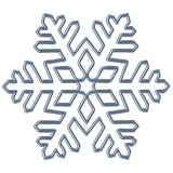 Snowflake, blue contour Stock Photo