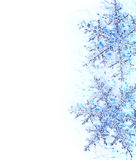Snowflake blue decorative border Stock Image