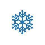 Snowflake blue icon Stock Photo