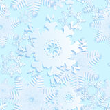 Snowflake blue seamless Stock Photos