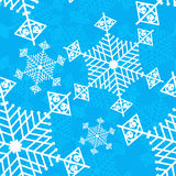 Snowflake blue seamless vector background. Snowflake and snow red seamless vector background for New Year and Christmas. Can be used for wallpapers, curtain Stock Photo