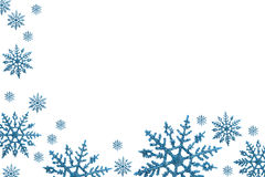 Snowflake Border. With white background, winter time stock photos