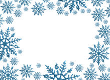 Snowflake Border. With white background, winter time stock photo
