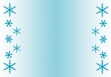 Snowflake Border Royalty Free Stock Photography