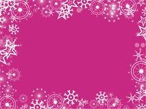 Snowflake border Royalty Free Stock Image