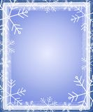Snowflake Border Frame Blue Stock Photo