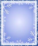 Snowflake Border Frame Blue Stock Photo
