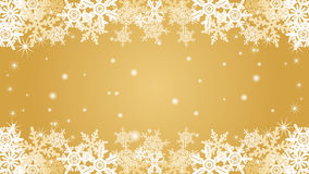 Snowflake  border frame -Gold color -EPS10 Stock Image