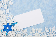 Snowflake Border with tag Royalty Free Stock Photography