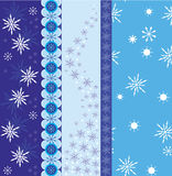Snowflake border vector royalty free illustration