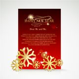 Snowflake and bright christmas background. Royalty Free Stock Image