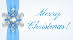 Snowflake brooch Royalty Free Stock Image
