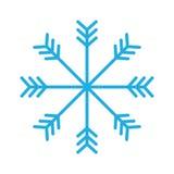 Snowflake button icon image Royalty Free Stock Image