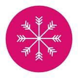 Snowflake button icon image Royalty Free Stock Photo