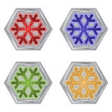 Snowflake Buttons Royalty Free Stock Photography