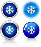Snowflake buttons. Stock Photography
