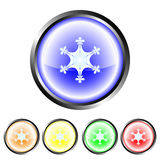 Snowflake buttons Stock Image