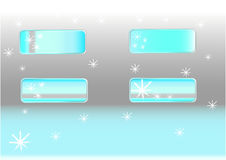 Snowflake buttons. For web design stock illustration