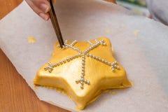Snowflake cake Stock Photo