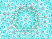 Snowflake candy background. White blue and green candy like christmas background Royalty Free Stock Image