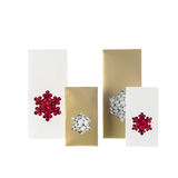 Snowflake candy bags Stock Image