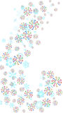 Snowflake and candy canes Royalty Free Stock Photos